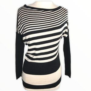 Windsor Asymmetrical Tunic  Sweater Striped Small